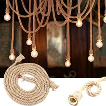 Vintage Hemp Rope Pendant Lights Lamp Bulb Base Holder for Room Decor 85-265V(China)