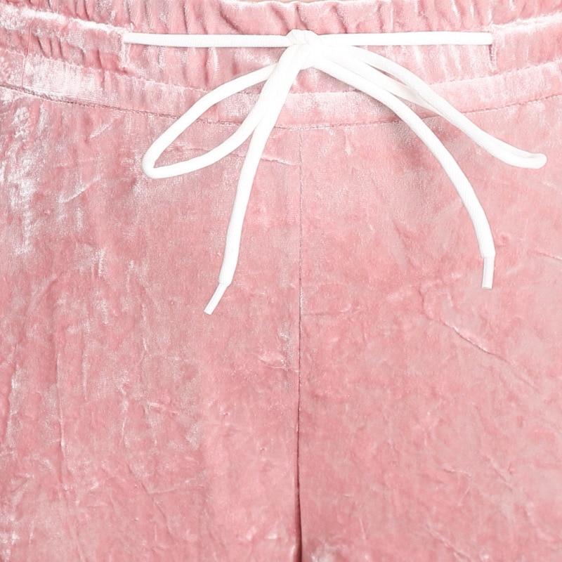 Women High Waist Wide Leg Pants Full Length Trousers Ladies Elegant Vintage Office Black Pink Pants Pantalon Femme in Pants amp Capris from Women 39 s Clothing