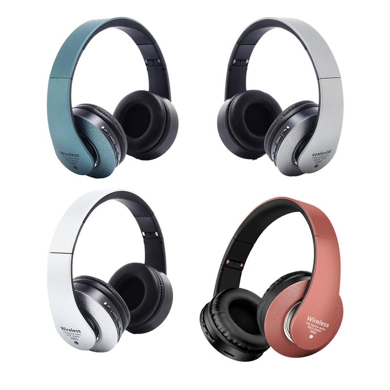 Bluetooth Headphones Over Ear Hi Fi Stereo Wireless Headset Foldable Soft Memory Protein Earmuffs Built in Mic Noise Cancelling-in Bluetooth Earphones & Headphones from Consumer Electronics