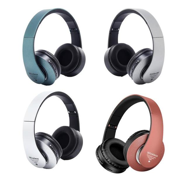 Bluetooth Headphones Over Ear Hi Fi Stereo Wireless Headset Foldable Soft Memory Protein Earmuffs Built in Mic Noise Cancelling