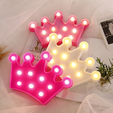 LED Night light Home Decor Light Romantic Lamp Crown 3D Fashion D35