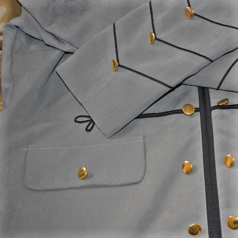 Best Deal╔Outerwear Jacket Military Embroidered Cardigan Parade Vintage Top Gothic Solid Buttons