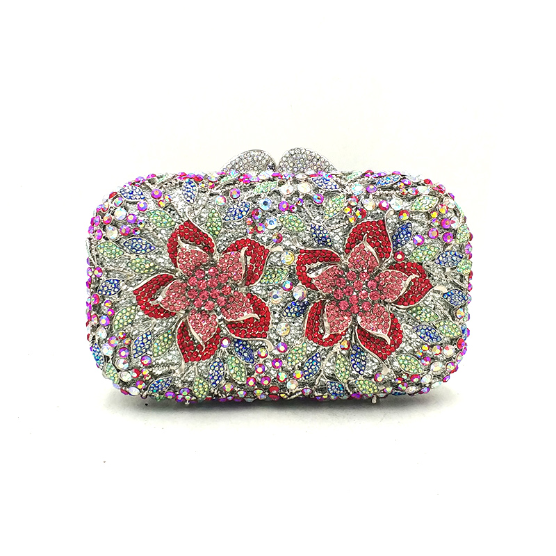 Ladies wedding party purses women evening party accessories bag diamond luxury flower clutches Nigeria elegant crystal