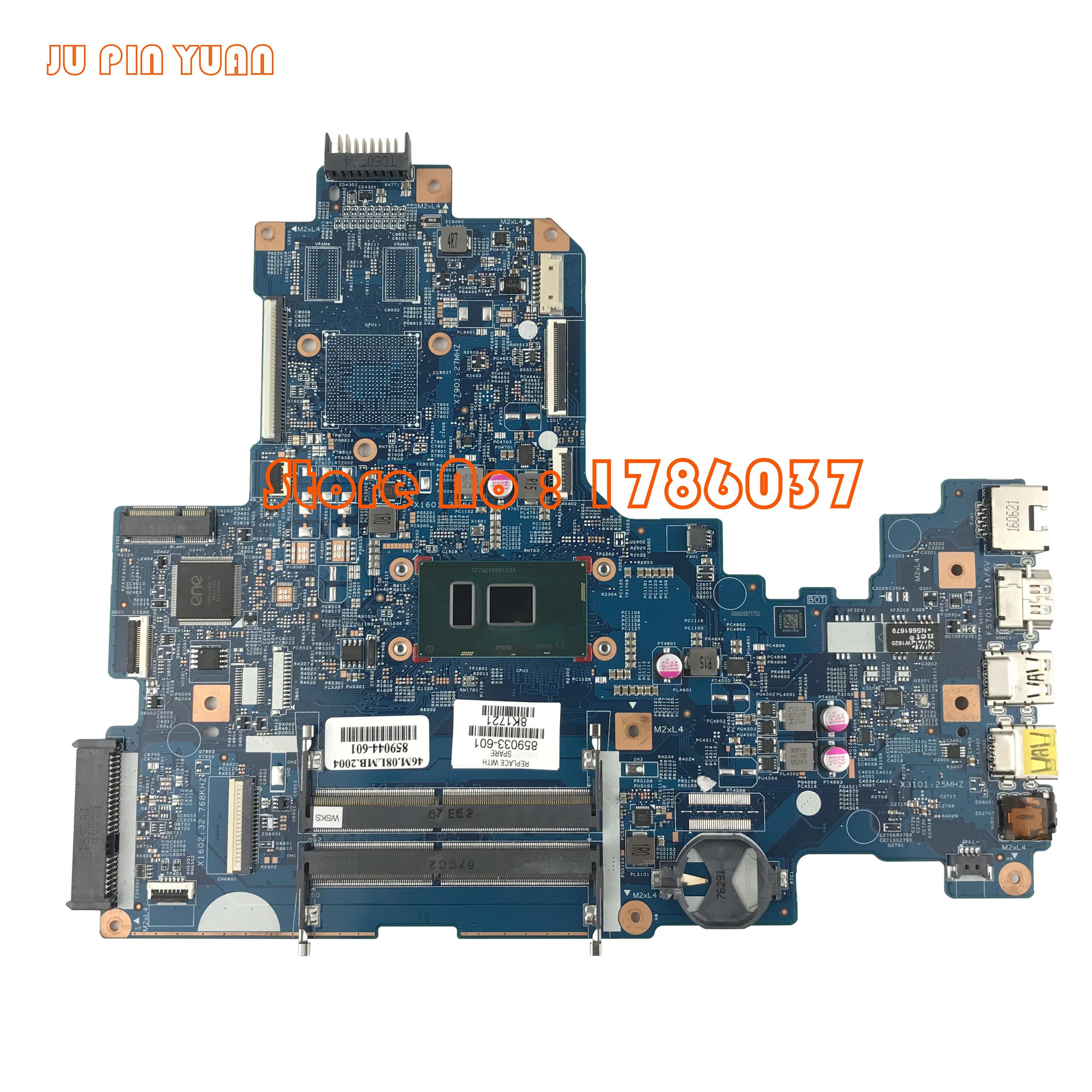 JU PIN YUAN 859033-601 859033-501 448.08E01.0021 para Notebook HP série motherboard com cpu i5-7200U 17-X totalmente testado