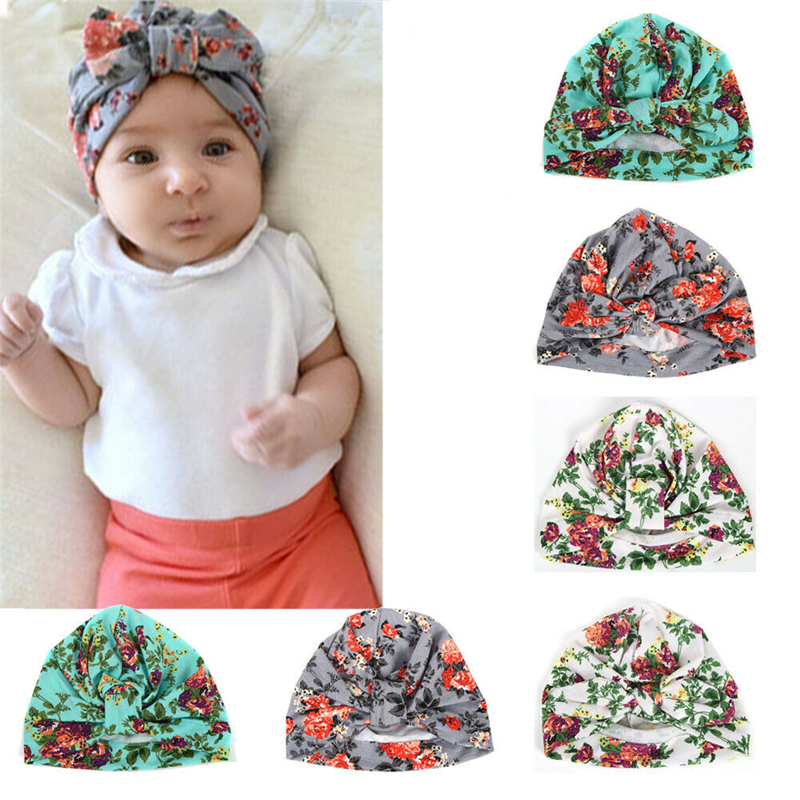 Cute Newborn Baby Girl Toddler Comfy Flower Hospital Cap Warm Beanie Hat G