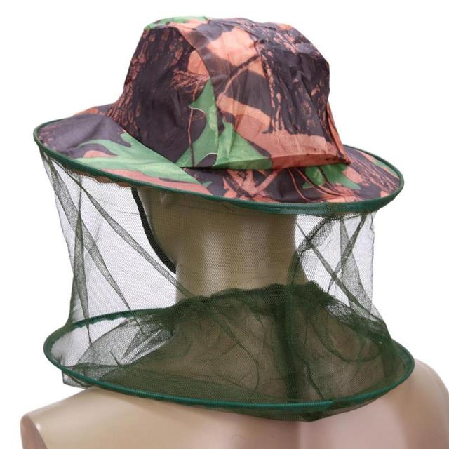 Camouflage Fishing Hat Bee keeping Insects Mosquito Net Prevention Cap Mesh Fishing Cap Outdoor Sunshade Lone Neck Head CoverZ70 5