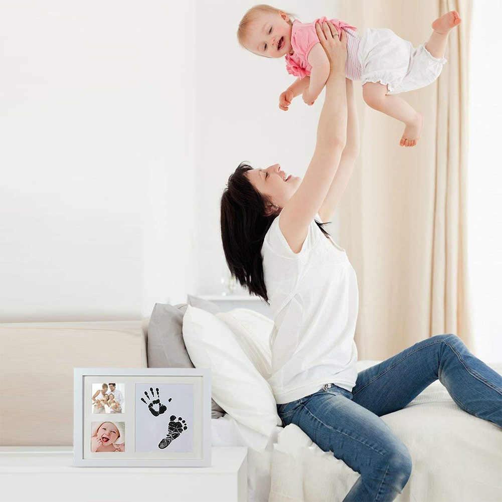 ลายเซ็นบัตร Handprint หมึก Pad Footprint แสตมป์ปลอดสารพิษ Inkless ทารกฟรีเด็กปลอดภัยเด็กแรกเกิดของที่ระลึก