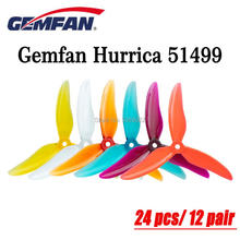 24 Pcs/12 Pairs Gemfan Hurricane 51499 5Inch Tri Blade Propeller Props Cw Ccw Propeller Compatibel T Motor Motor Fpv Rc Drone