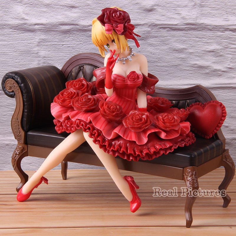 Anime Fate Extra Nero Claudius Red Saber Figure 1/7 Scale PVC Collectible Model Toy Gift