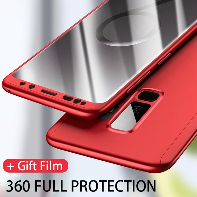 360 Full Protection Luxury Cover Cases For Samsung Galaxy A50 A30 M20 A8 A6 J4 J6 Plus A750 2018 S9 S8 S10 Plus Note 9 8 S7 Edge