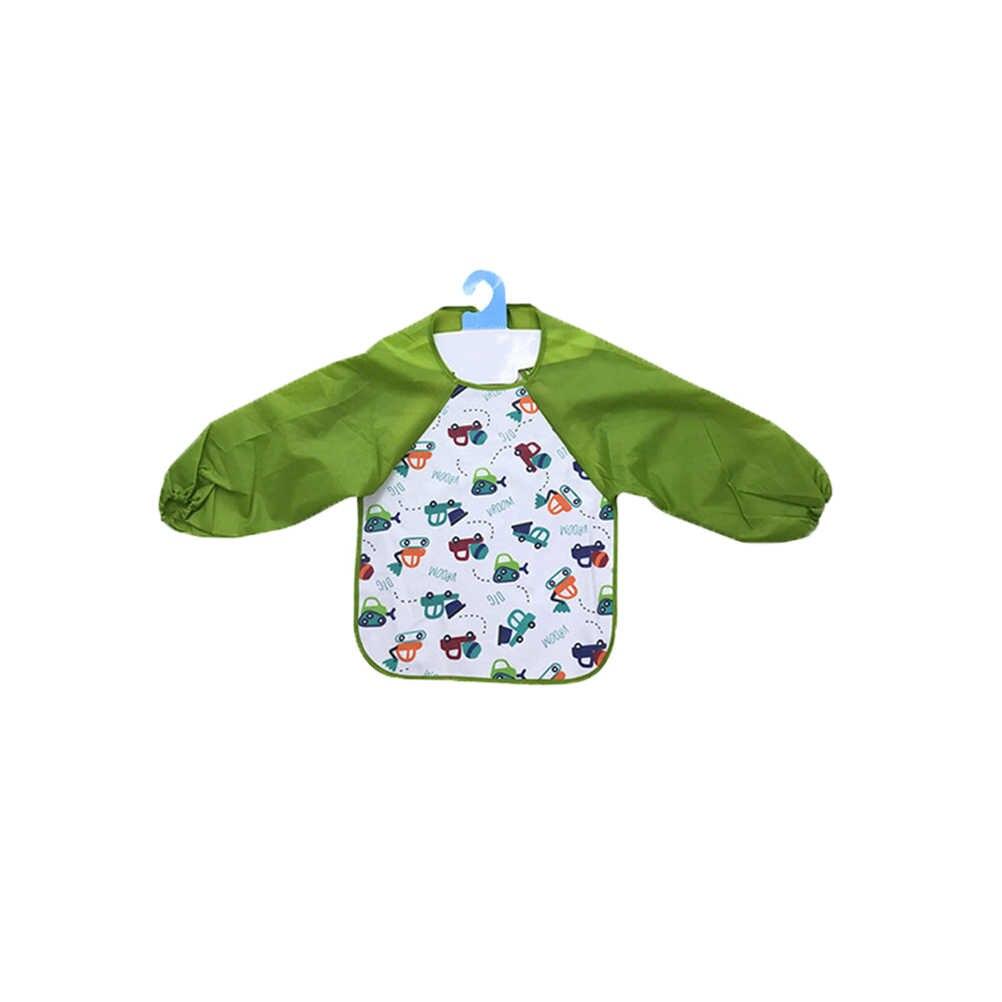 2 Pcs Warna-warni Kartun Tahan Air Lengan Panjang Seni Baju Celemek untuk Anak-anak Artis Anak