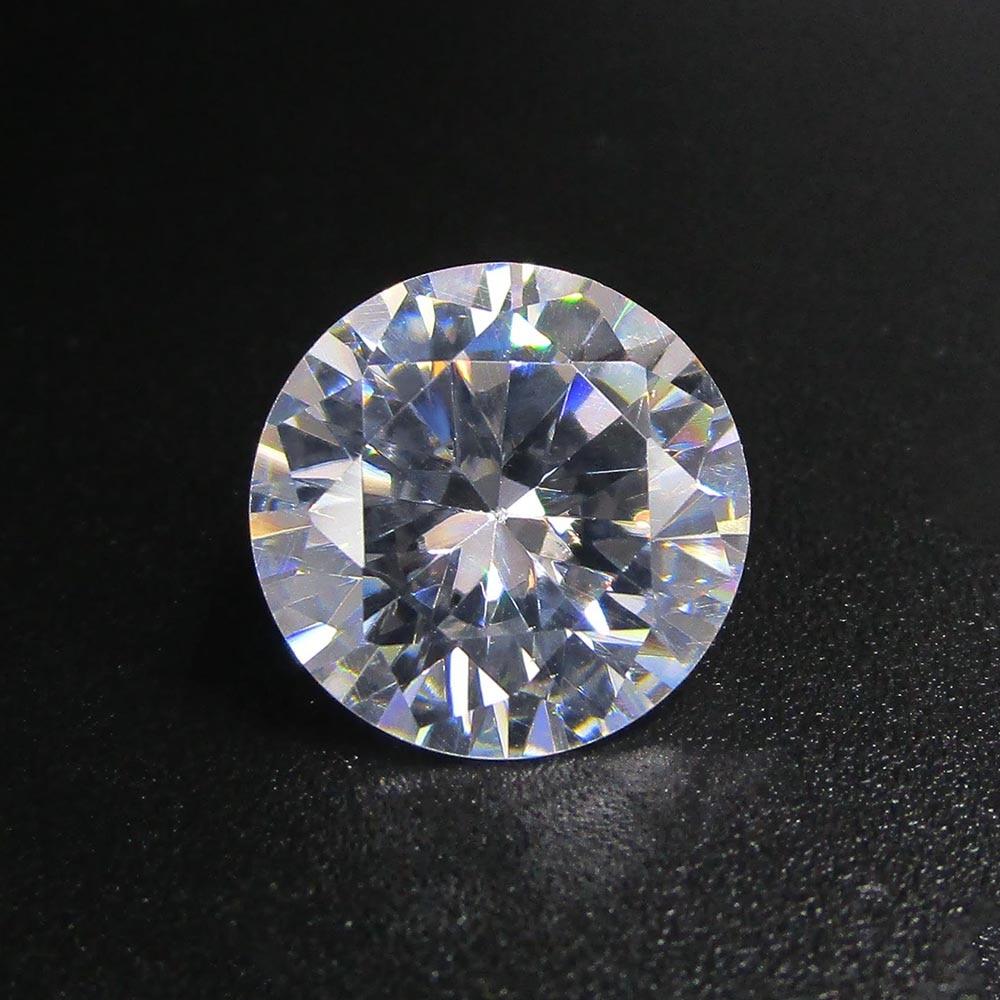50 pezzi per lotto 5A grado bianco Cubic Zirconia 0.8 ~ 4.0mm rotondo taglio brillante sciolto chiaro pietra CZ