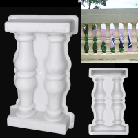 Garden Buildings Paving Molds Roman Column Mold DIY Balcony Garden Pool Fence Cement Railing Plaster Concrete Mold