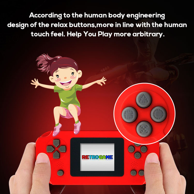 Built-in 268 Classic Games Game Player 8 Bit Mini Retro Handheld Game Console Portable Game Machine 2.0inch Screen Gift for Kids
