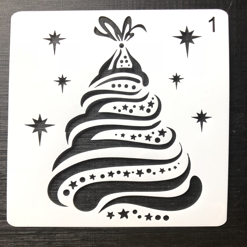 Newest Christmas Tree Stencil For Cards Window Spray Mold Layering Stencils For Walls Painting Scrapbooking Stamping Template