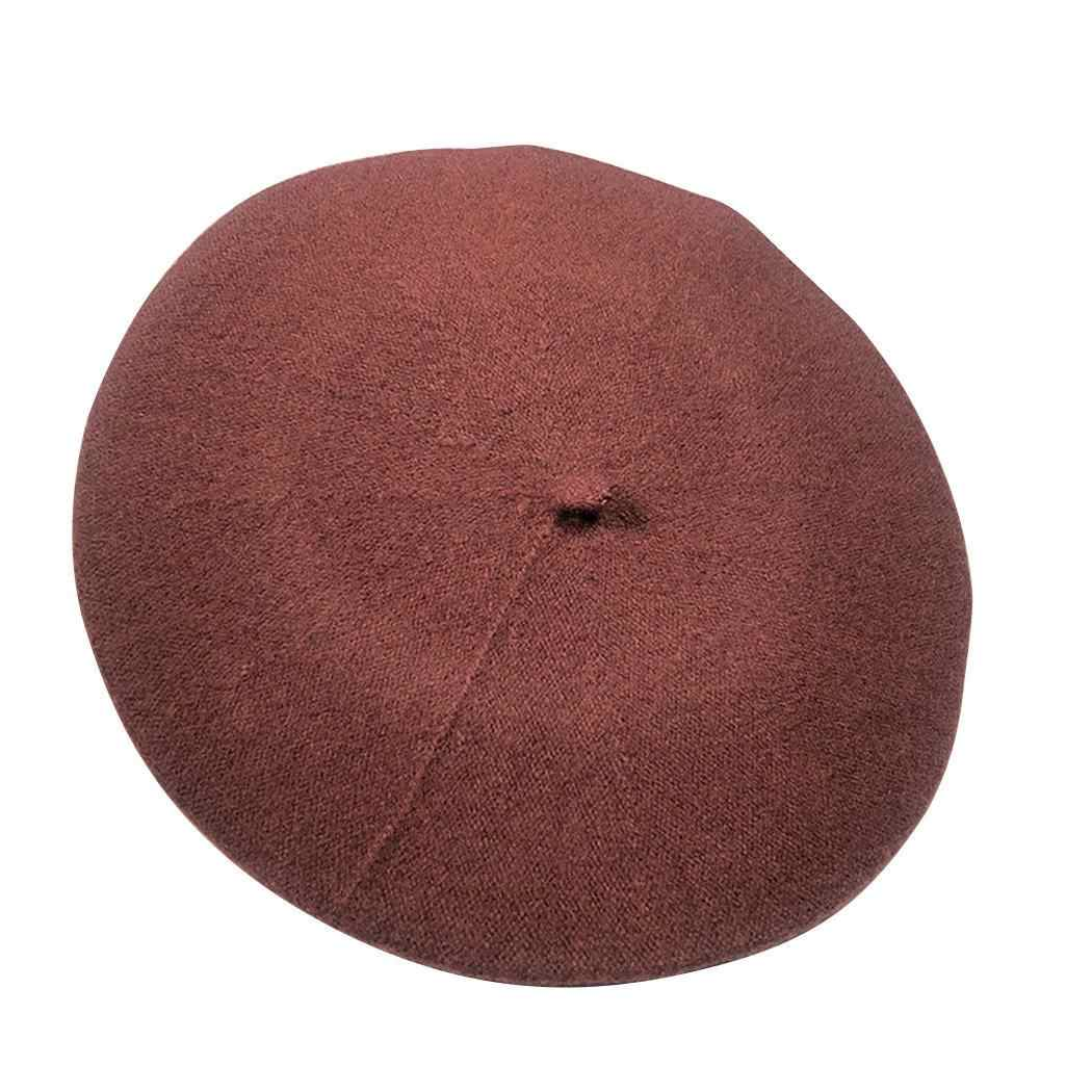 22 одноцветное для женщин берет повседневное 56 Открытый теплая шапка осень зима французский 83 дюймов см 58 см плотная 04 Street шерсть