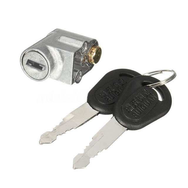 Ignition Lock Battery Safety Pack Box Lock + 2 key For Motorcycle  Electric Bike Scooter E-bike Electrombile lock