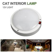 New 12V 10 W Ultra Thin LED Dome Light Ceiling Lamp Roof For Caravan Camper Trailer Car RV(China)
