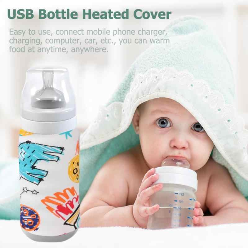 USB Warmer Portable Travel Cup Baby Bottle Heater Outdoor Infant Milk Feeding Bottle Bag Cover Safety Warm Feeding heat