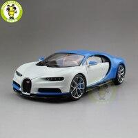 1/18 Bugatti Chiron 2016 супер автомобиль Welly GTAUTOS литья под давлением Металл Модель автомобиля для мальчиков и девочек подарок на день рождения синий