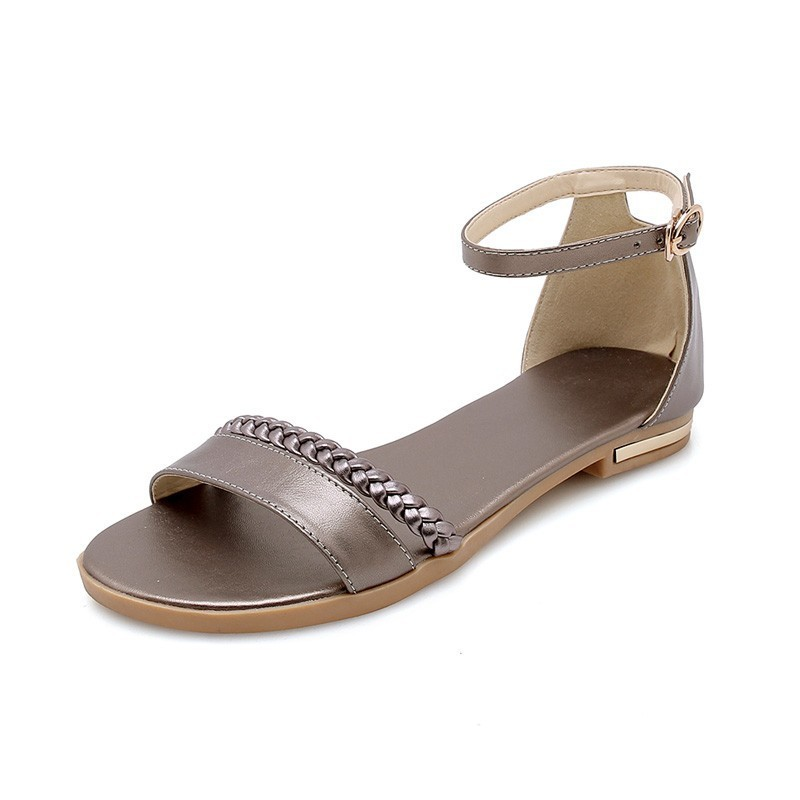 Image 3 - YOUGOLUN Women Flat Sandals New Arrived Ladies Summer Casual Shoes Sexy Woman White Black Beige Ankle Buckle Strap Sandal A032-in Women's Sandals from Shoes