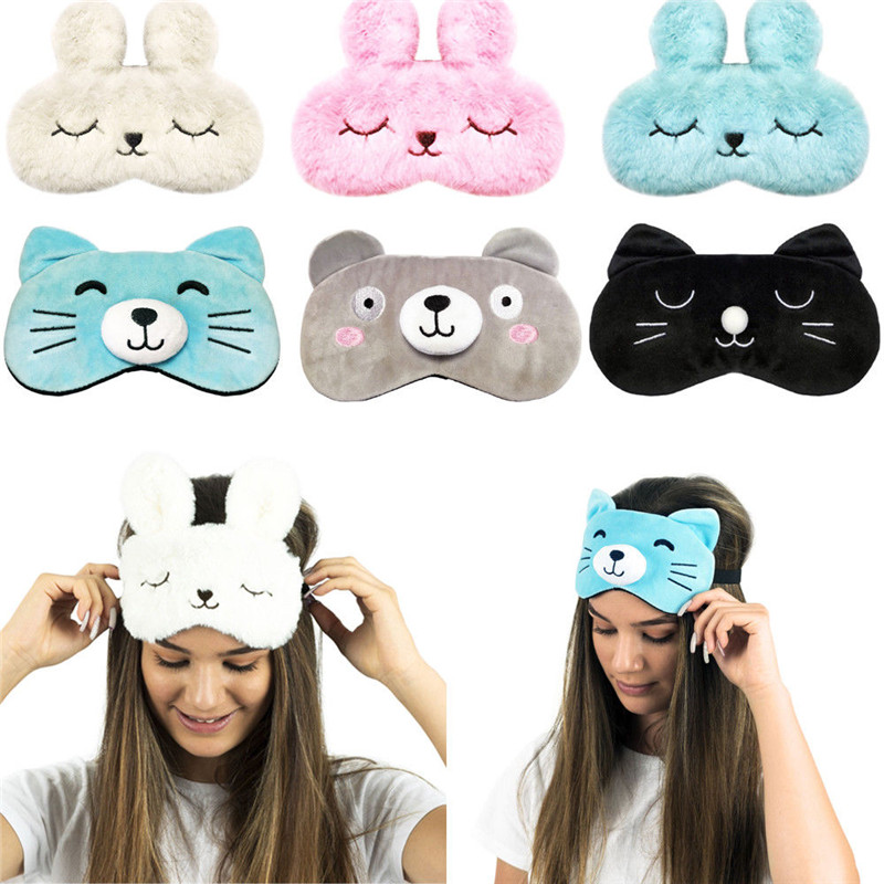 New Cute Rabbit Eye Shade Cover Mask Sleep Rest Eyepatch Blindfold Shield Party Mask