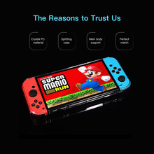 Pelindung Crystal Case untuk Switch Dockable Cover untuk Gamepad Switch Membelah Design Hard Cover Anti-Shock All-Round perlindungan(China)