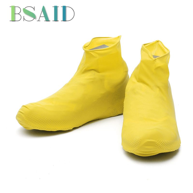 Waterproof Rain Shoes Cover Reusable Boots Flat Overshoes Covers Anti Slip UK