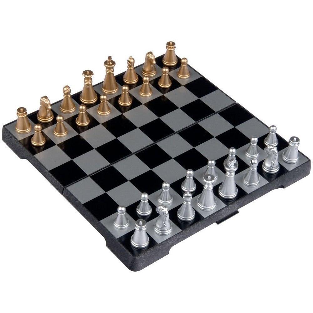 Jogo de Xadrez de Viagem Preto e Branco Dsgs Polegada Magnética 6.3
