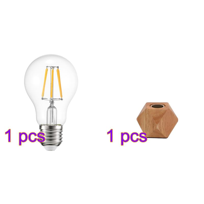 Honest Youool Eu-plug Wooden Base Modern Table Lamp E27 Wooden Desk Lamp Diamond Bedside Lamp For Home/bedroom/living Room Decor Led Table Lamps