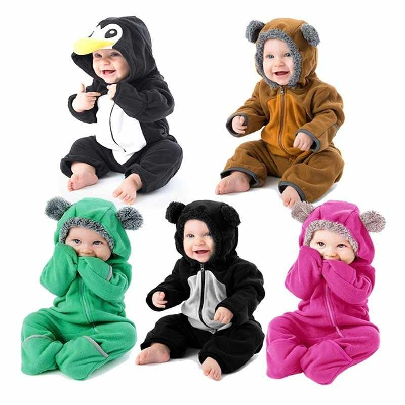 Baby Clothing Cartoon Infant Romper Boys Girls Jumpsuit Animal Model Long Sleeve Costume Ropa Hooded Overall Climbing Clothes