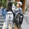 Chain USB Backpack Women Canvas 3pcs/set Women Backpack Teenager Girls Backpacks Shoulder Bag Female Student School Bags Tassel 5