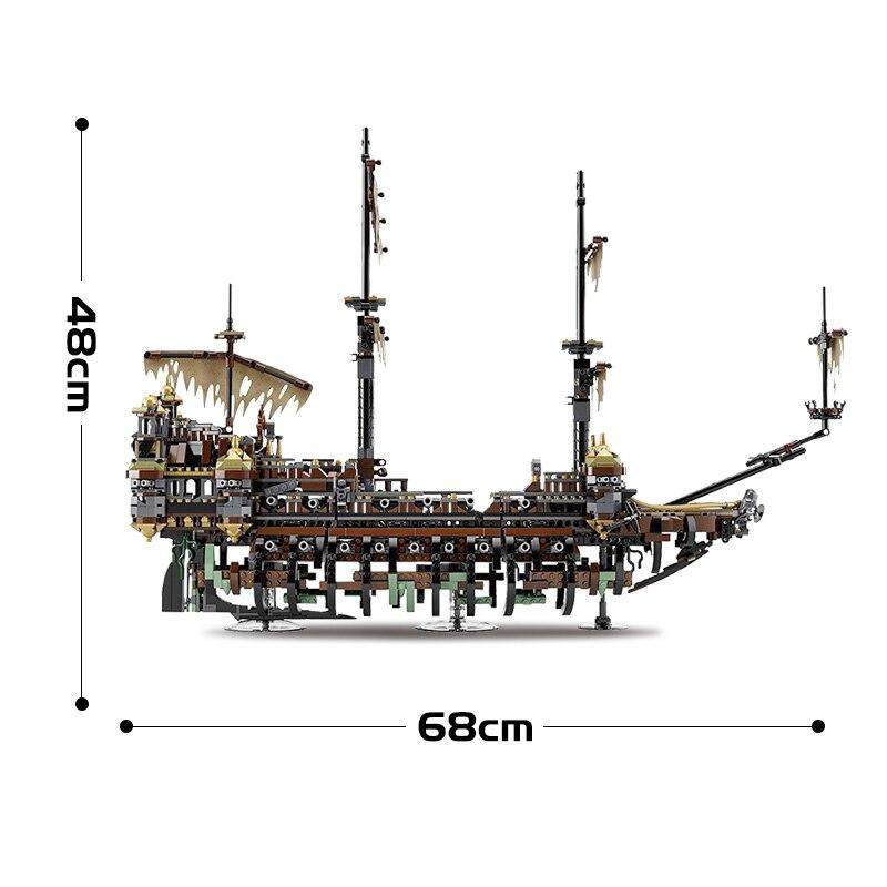 SY 1200 Pirate caraïbes bateau silencieux Mary blocs de construction Compatible legoingLYs 71042 jouet LP 16042 pour enfant cadeaux d'anniversaire - 4