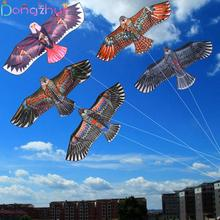 1.1m Flat Eagle Kite With 30 Meter Line Children Flying Bird Kites Windsock Outdoor Toys Garden Cloth For Kids Gift