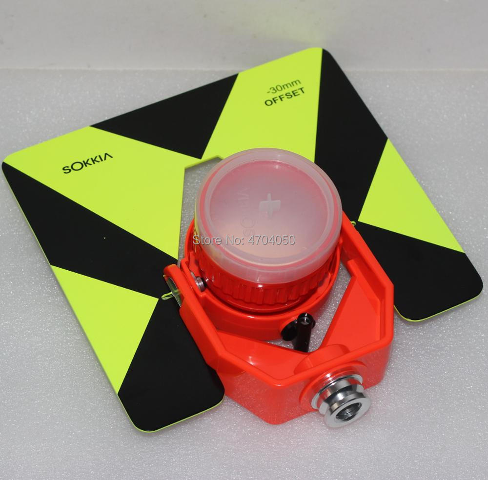 NEW Replacement Sokkia Red Prism with Green black Target Single Tilt Prism Soft Bag for Sokkia