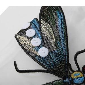 Image 5 - [EAM] 2020 nowa wiosna jesień okrągły dekolt z długim rękawem duży rozmiar Organza ściegu trójwymiarowa koszula kobiety bluzka moda JL958