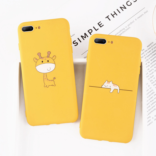 Animal Patterned Silicone Phone Case
