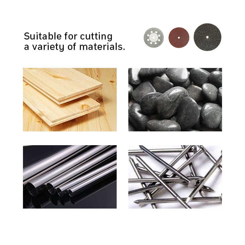 Disco de corte de diamante, disco de lijado, hoja de sierra circular para carpintería, accesorios de herramienta rotativa de mini taladro dremel de metal 60 piezas