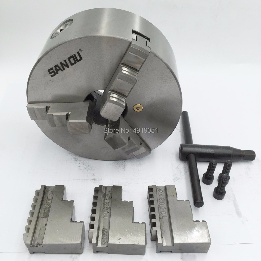 K11-200 3 Jaws Manual Lathe Chuck 200mm 4 Inch Self-Centering Chuck with Wrench & Screws Hardened Steel for Drilling MillingK11-200 3 Jaws Manual Lathe Chuck 200mm 4 Inch Self-Centering Chuck with Wrench & Screws Hardened Steel for Drilling Milling