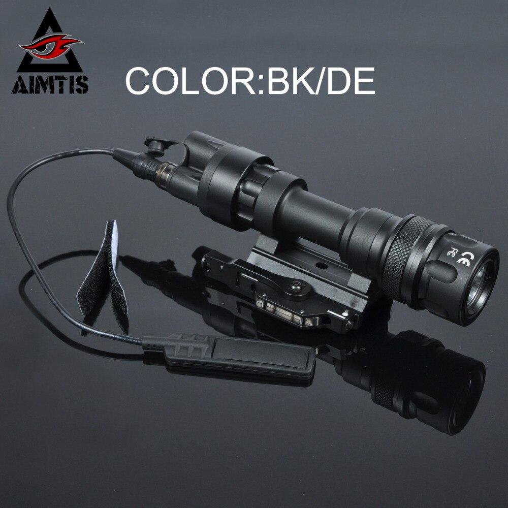 AIMTIS M952 IR Tático Luz Picatinny QD Montagem LED Arma Luz Caça Lanterna Olheiro Constante Saída Momentânea Branco
