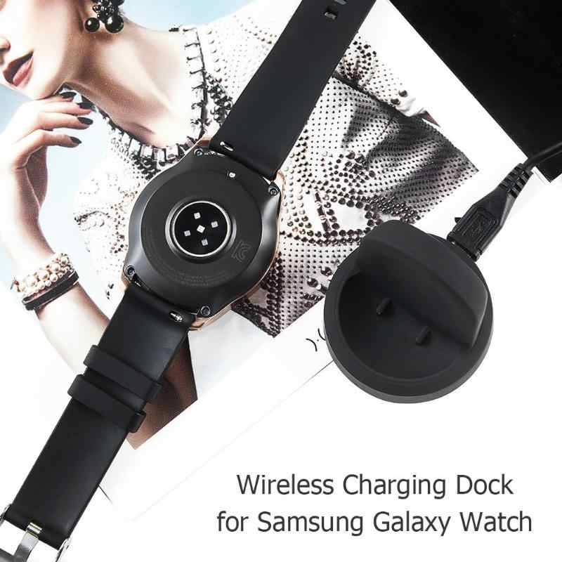 Hot Sale Wireless Pengisian Cradle Dock Charger untuk Samsung Galaxy Watch 42 Mm 46 Mm SM-R800 R805 R810 R815