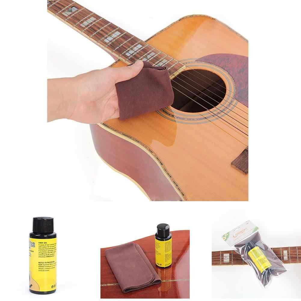 70 мл Гриф для гитары уход за маслом гриф доска лимонное масло + чистящая ткань набор универсальная гитара укулеле бас Уход Инструмент аксессуары