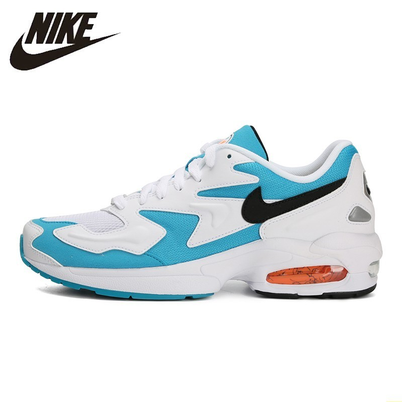 US $73.28 68% OFF|Nike AIR MAX2 LIGHT New Pattern Men Running Shoes Outdoor Sports Engraved Shoes Comfortable Breathable Sneakers #AO1741 100 in
