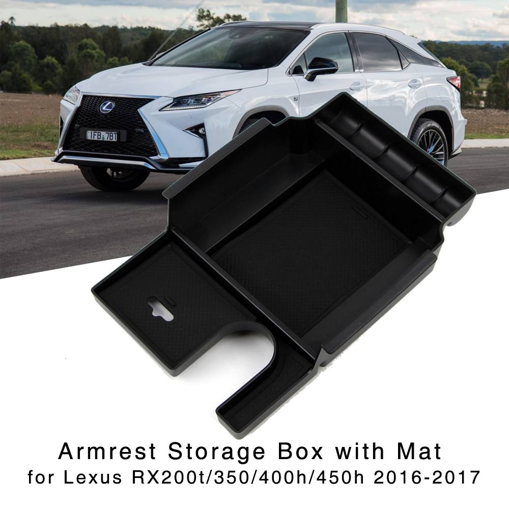 Armrest Storage Box for 2016 2017 <font><b>Lexus</b></font> <font><b>RX200t</b></font> RX350 RX400h RX450h Central Console Glove Holder Organizer Tray image