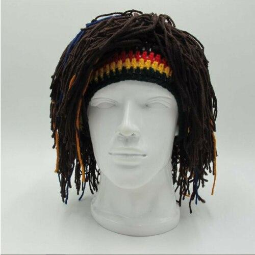 de97a5f9a61b Регги дреды унисекс ямайский вязаный шапка-парик коса ...