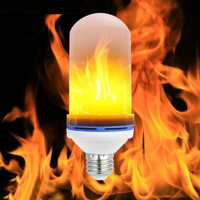 E27 9W LED Flame Effect Fire Light Bulbs Flickering Emulation Decorative Lamps Simulated Vintage Flame Bulb for Club Bar Bedroom