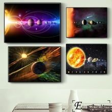 Our Solar System 3D Artwork Canvas Painting Posters And Prints For Living Room No Framed Wall Art Decoration Picture Home Decor