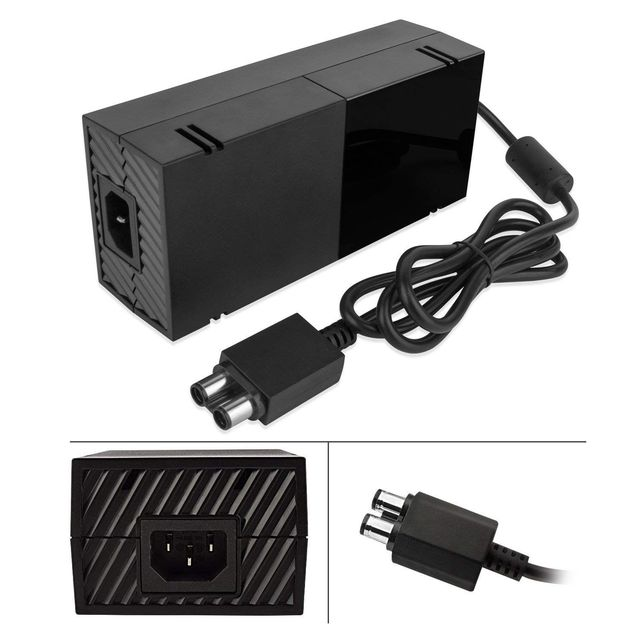 FULL-220W For Xbox One Power Supply, AC Adapter Replacement Charger with Cable for Xbox 1, For Xbox One Power Brick Advanced Q