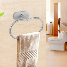 Stainless Steel Brushed Towel Rack Holder Wall Mounted Ring Hook Bathroom OHanging Hanger