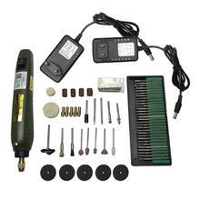 Alloet 30 unids/set P500 11 Mini taladro eléctrico amoladora polaco lijado Rotary herramienta de bricolaje de energía Kit de herramientas para fresadora de grabado